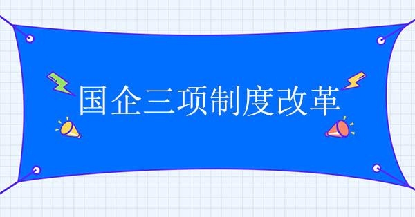 国企三项制度改革