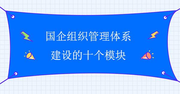 国企组织管理体系建设的十个模块