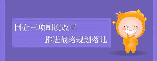 国企三项制度改革,推进战略规划落地